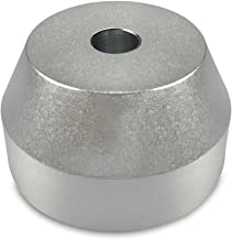 """45 RPM Adapter Solid Aluminum - Perfect Fit for most Vinyl Record Turntables 2.2oz Replaces Standard 7"""" Singles Adaptor. For Serious Audiophiles that want to get the Best Sound out of their Collection"""