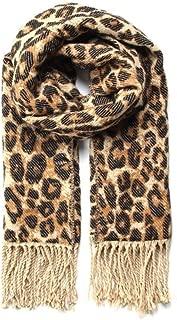 Leopardo Sciarpa-SCIALLE-Marrone scuro