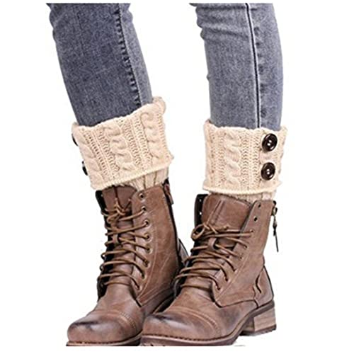 HENGSONG Womens Winter Warm Soft Knitted Twist Leg Warmers Boot Socks Cuffs 7176c3adfe