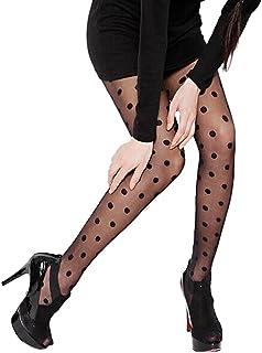 LenceríA Mujer Sexy Medias Moda Medias De Encaje Medias Puntos Calcetines Sexy Sheer Big Dot Panti Transparentes Medias De Encaje Sexy, Adecuado para Combinar Vestido, Falda