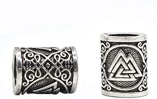 5pcs Norse Viking Rune Scandinavian Beads for Pendant Bracelet for Hair Beards Maiking