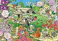 ジグソーパズル2000ピース木製ジグソーパズル動植物庭の風景大きな木製パズルユニークな家の装飾とギフト