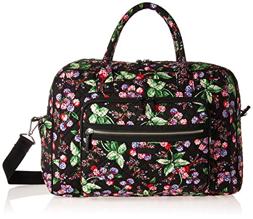 Vera Bradley Signature Cotton Weekender Travel Bag, Winter Berry