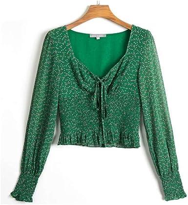 NOBRAND Blusas y Blusas con Estampado Verde Mujer Blusa ...