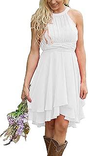 Women's Knee Length Country Bridesmaid Dress Western Wedding Guest Dress