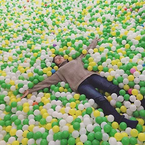 LIUFS-Bola Del Océano Kinder Farbe Ball Weiche Kugel Kleine Kugel Pool Marine Ball Kunststoffkugel Zaun Spiel Ball Raumdekoration Foto 100 / Tasche (Color : B1)
