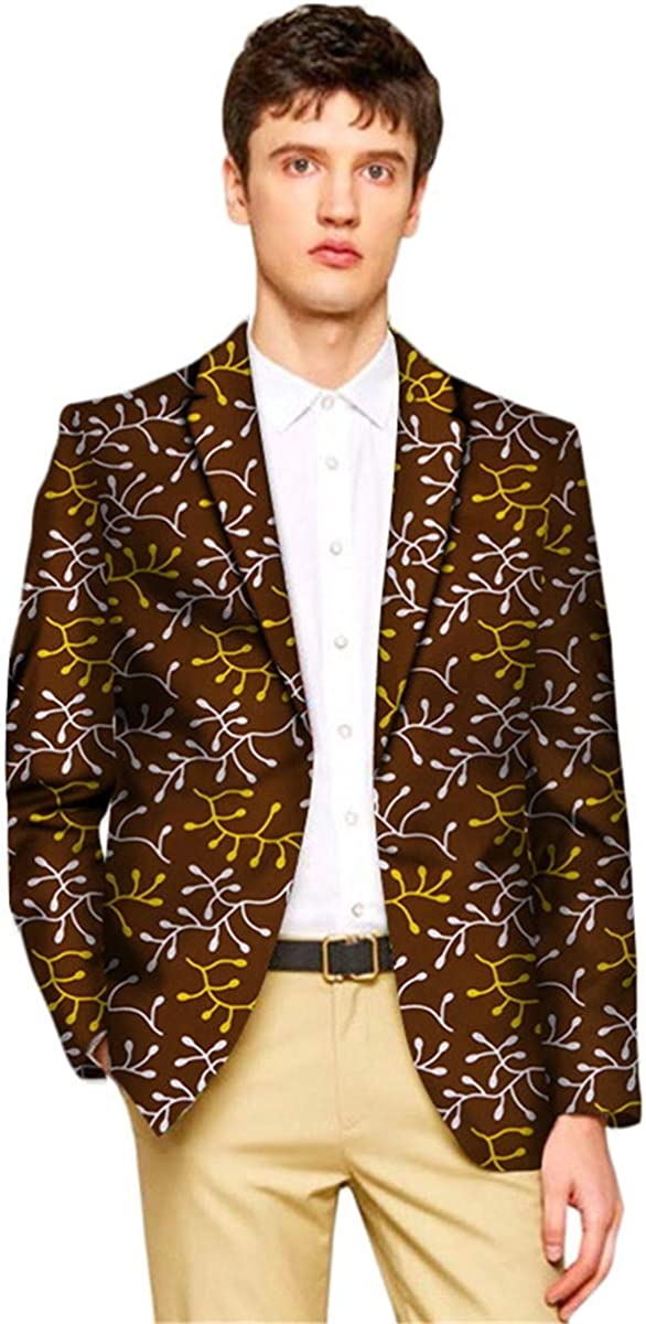 ELISCO Men's Jacket African Print Dashiki Suit Traditional Festivel Blazer Dashiki for Men (3,XXXL)