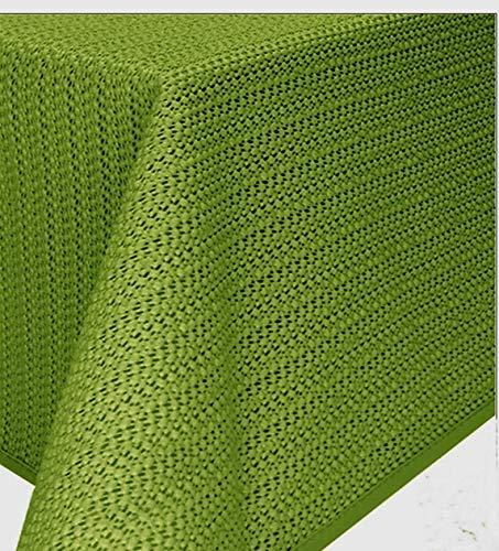Gartentischdecke Tischdecke Weichschaummaterial rutschfest wetterfest 6 Farben (140x180cm oval, Grün)