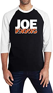 Tobin Clothing Blackwhite Cincinnati Joe Knows Raglan Shirt