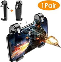ZDMSEJ Simple Mobile Game Controller, Cell Phone Game Triggers Sensitive Aim Keys,Use Four Fingers to Control More Stable and More Comfortable Compatible with FPS and TPS