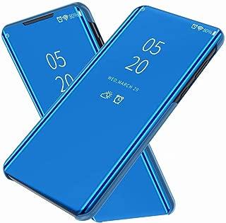 FanTing Case for vivo V15 Pro/S1 Pro,Mirrored flip smart translucent case with automatic switch for vivo V15 Pro/S1 Pro-Blue