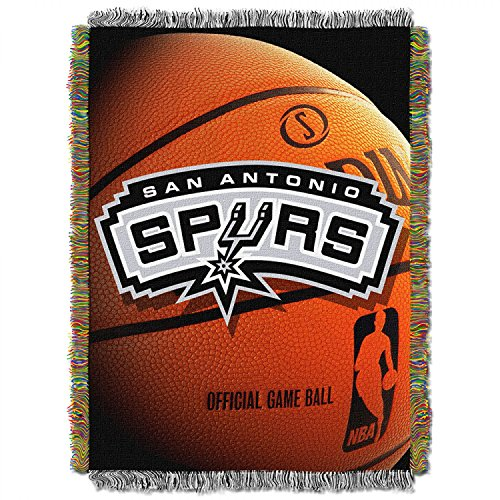 San Antonio Spurs NBA Triple Woven Jacquard Throw (019 Series) (48x60 )