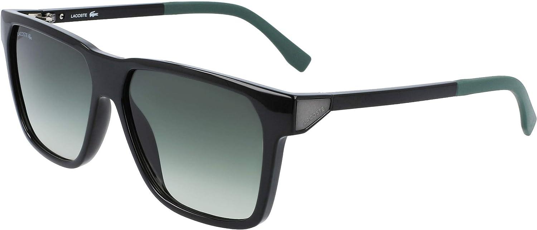 Lacoste Men's L934S-001 Square Sunglasses, Black, 57/14/135