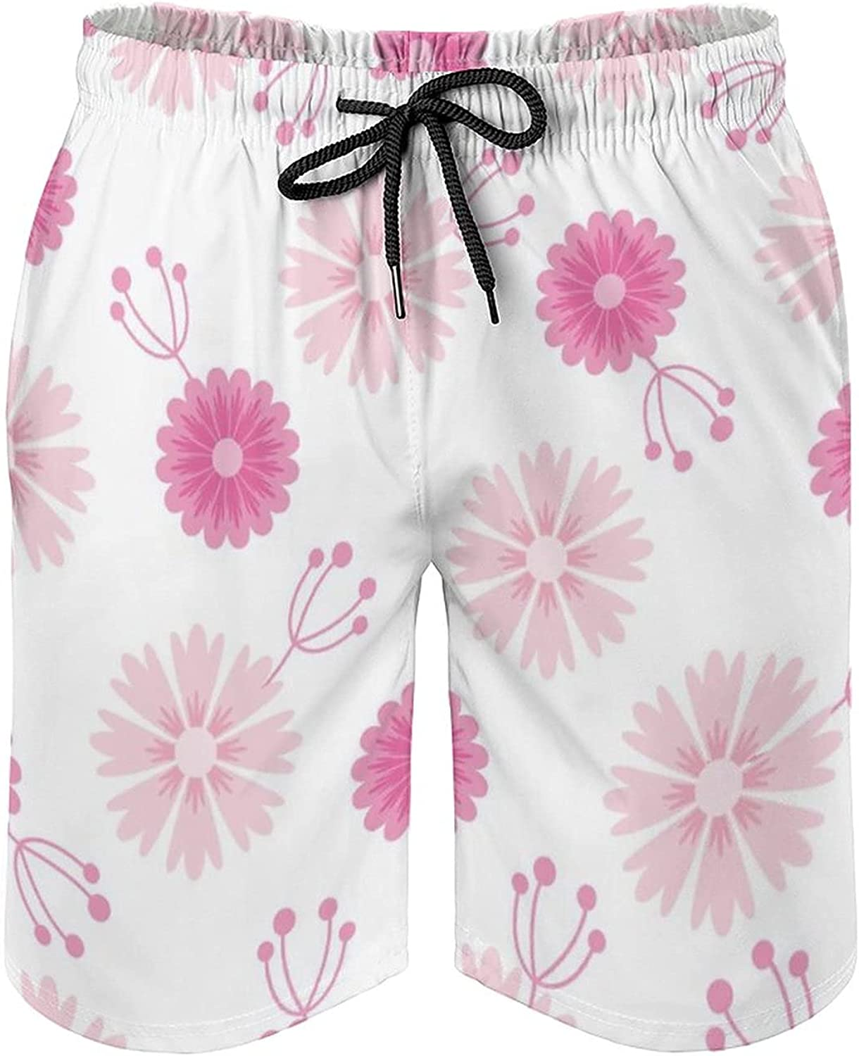 by Unbranded Men's Fashion Summer Soft Board Shorts 3 Wild Flowers