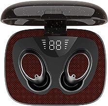 JEI-MEN Bluetooth Wireless Earbuds with True Wireless BT 5.0 Flip-Flop Digital Display Sport Waterproof Stereo in-Ear Headphones Portable with Charging case (Red)True Wireless BT 5.0 Flip-Flop Digital