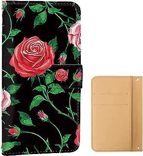 ケース 手帳型 カードタイプ Xperia Z5 Premium (SO-03H) [薔薇・カラフル] 花柄 エクスペリア ゼットファイブ プレミアム スマホケース 携帯カバー [FFANY] rose-130@06c
