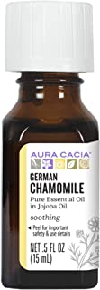 Aura Cacia German Chamomile Essential Oil (in jojoba oil) | 0.5 fl. oz. | Matricaria recutita