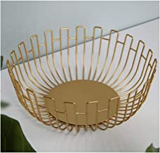 XinQing-Storage basket Nordic Soft Decoration Wrought Iron Fashion Fruit Basket Creative Minimalist From Simple Living Roo...