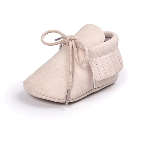 Royal Victory Baby Boys Girls Moccasins Soft Sole Tassels Prewalker Anti-Slip Shoes