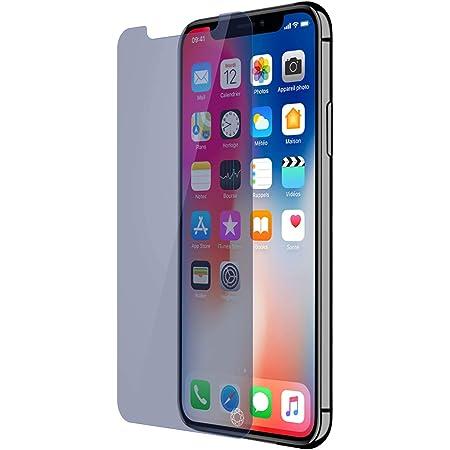 Forceglass - Protector de pantalla para iPhone XS (vidrio templado), color azul