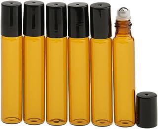 CUTICATE 6本セット 化粧ボトル 香水 ガラスロール 光避けデザイン 旅行用 10ml