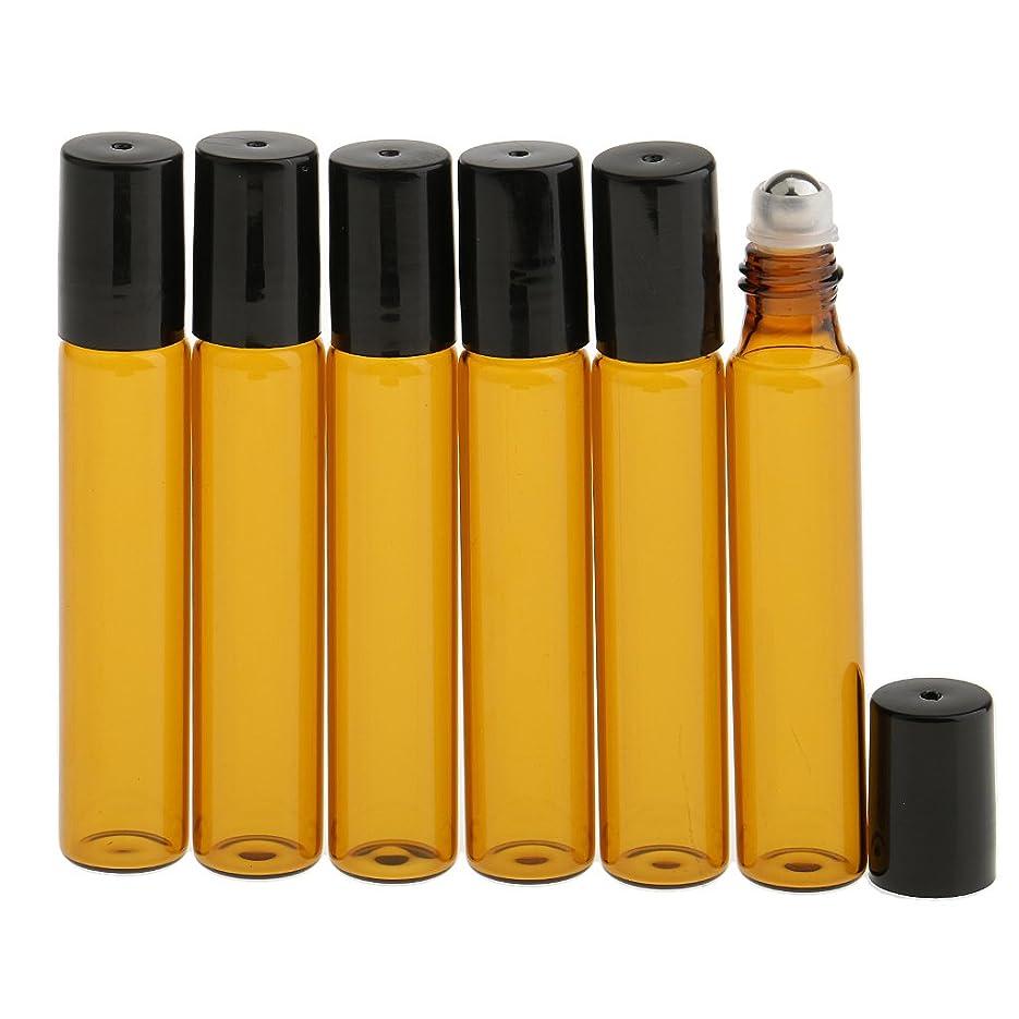 最大の差加入CUTICATE 6本セット 化粧ボトル 香水 ガラスロール 光避けデザイン 旅行用 10ml