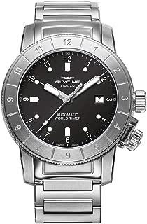 Glycine Airman Mens Analog Swiss Automatic Watch with Stainless Steel Bracelet GL0176