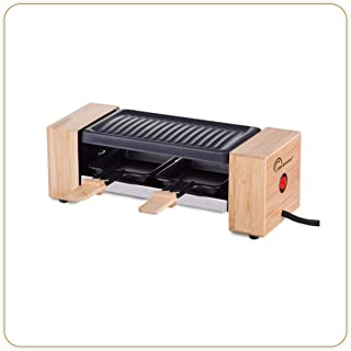 LITTLE BALANCE 8387 Raclette Wood for 2 - Appareil à raclette 1 ou 2 personnes - Grill amovible - Revêtement anti-adhésif...