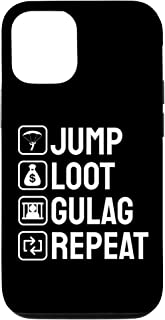 iPhone 12/12 Pro Jump Loot Gulag Repeat Gamer phone case Video Game Gulag Case