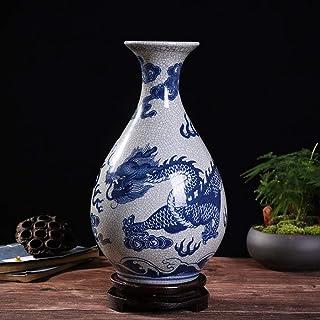 Underglaze Color Porcelain White Vase Hand Uneven Distribution Official Kiln Place Excellent Jingdezhen Ceramics Ceramic (...