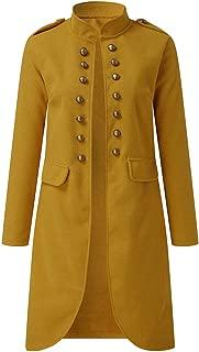 aihihe Plus Size Vintage Coats Jackets for Women Long Coat Double Breasted Flare Windbreaker Outwear Warm Winter