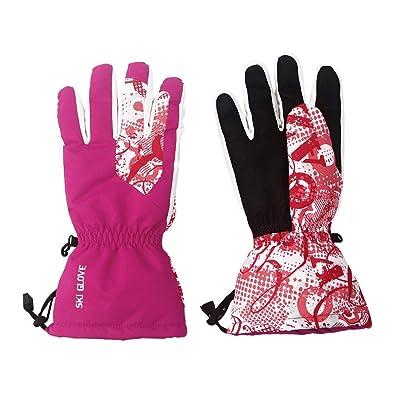 Evaric Women Snow Ski Gloves, Waterproof Windpr...