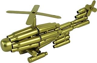 TG,LLC Bullet Shell Casing Shaped Helicopter Military Gift Chopper Gun Casings Shells