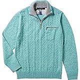 【INTERMEZZO】インターメッツォ カシミヤ混 ケーブル編みジュエルニット(セーター) 青緑 size 3L