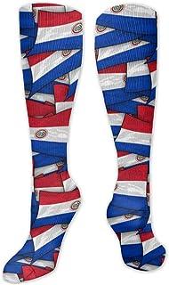 Paraguay-Flagge Wir Collage - Calcetines para hombre y mujer, divertidos y locos