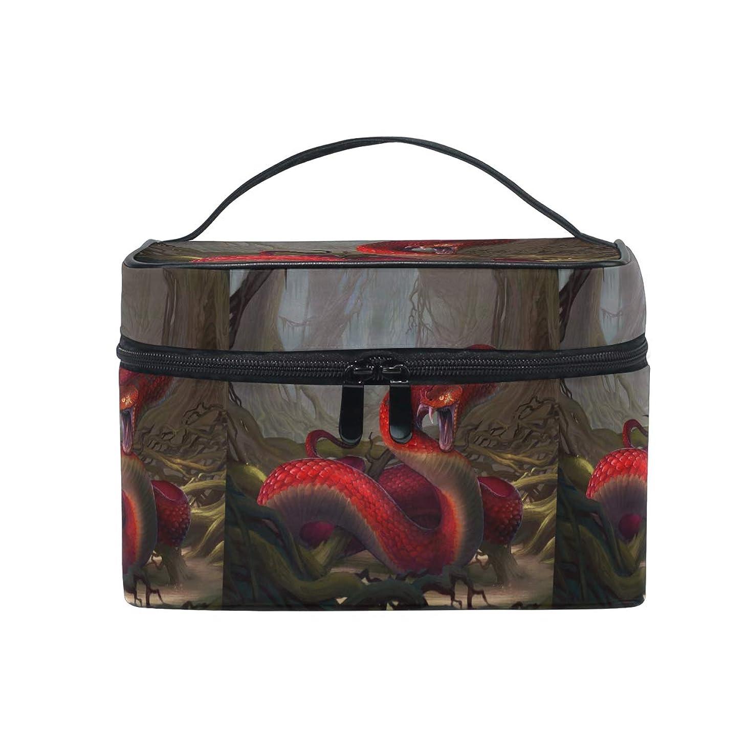 適合しました出来事バインドクールなビンテージワイルドスネークメイクバッグ 旅行 メイクボックス バッグ トイレタリー トレイン ケース レディース 美容 化粧ポーチ ポーチ