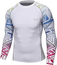 Herren Pullover Weiß Funktionsshirts Langarm Kompressionsshirt Sport Laufshirt Atmungsaktiv Compression Shirt Schnelltrockend Funktionswäsche Stretch T-Shirts Männer Jogging Yoga Muskelshirt