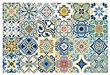 GSS Designs TS24-005 Wandaufkleber, traditionelle mexikanische Talavera-Fliesenaufkleber für Badezimmer und Küche, 10 x 10 cm, wasserdicht, abnehmbar, 24 Stück