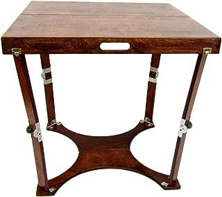 Spiderlegs Folding Cafe Table, 30-Inch, Mahogany