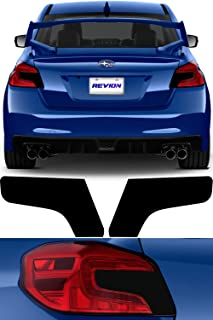 Tail Light Tint Kit compatible with 2015-2019 Subaru WRX/STI | Gloss Black Smoke Vinyl Tinted Taillight Overlay Kit