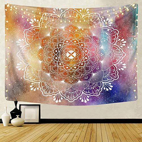 KHKJ Mandala patrón Tapiz Indio decoración Colgante de Pared Toalla de Playa Bohemia Manta Fina Yoga Shaw A1 95x73cm
