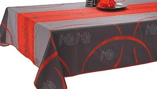 Le linge de Jules Nappe Anti-Taches Astrid Rouge - Taille : Rectangle 150x240 cm