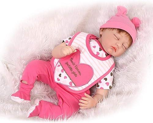 O-YMS mädchen Augen Geschlossen Reborn Babys Puppe Weißes Silikon Vinyl Magnetisch Kinderspielzeug Baby Dolls 22Zoll 5cm