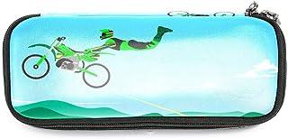 Estuche Motocross 06 Pencil Case Pouch for Boys Girls Adolescente Cosmética Bolsa Estuches Adecuado Escuelas y Oficinas Pen Holder 19x7.5x3.8cm