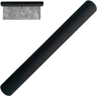 JIANZHENKEJI Fusing Tape,No-sew Fusible Bonding Web,17.5 Inch Width by 8 Yard Length(Black)