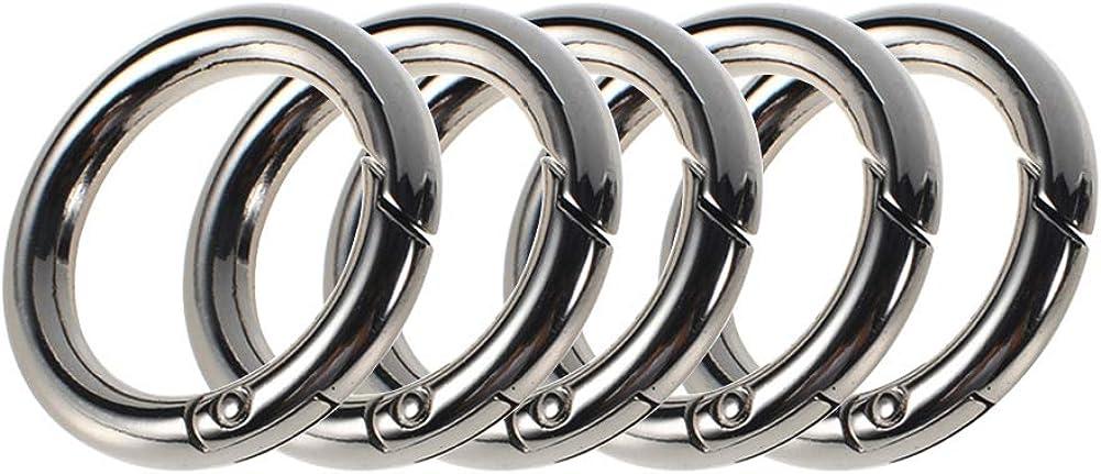 Svaitend Zinc Alloy Round Carabiner Spring Snap Clips Hook Keychain Keyring Buckle