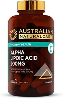 Australian NaturalCare - Everyday Health - 200mg Alpha Lipoic Acid Capsules (90 Count)