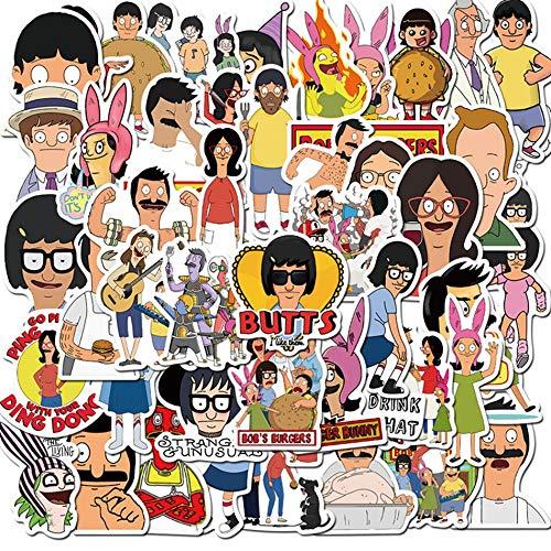 ZHXMD Divertidas Pegatinas de Dibujos Animados de Anime, Equipaje Impermeable, portátil, Motocicleta, monopatín, Pegatina de Graffiti, Juguetes para niños, 10/30/50 Uds.