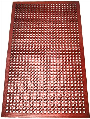 New Star Foodservice 54521 Commercial Grade Grease Resistant Anti-Fatigue Rubber Floor Mat, 36