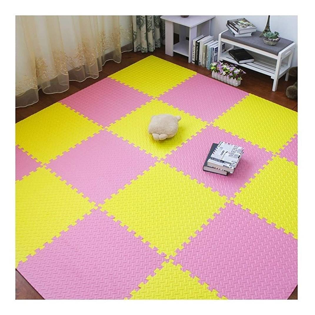 酸トーク時計回りWUZMING ジョイントマット厚くする連動タイル床保護ヨガジムマット、オフィスリビングルーム (Color : D, Size : 60x60x2.5cm-12pcs)